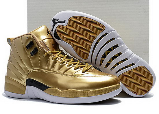 Air Jordan Retro 12 All Gold Black Factory Store